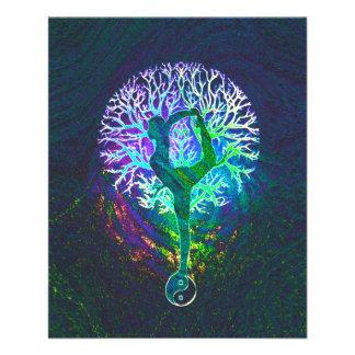 Regenbogen-Energie Yin Yang Yoga 11,4 X 14,2 Cm Flyer