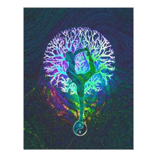 Regenbogen-Energie Yin Yang Yoga 21,6 X 27,9 Cm Flyer