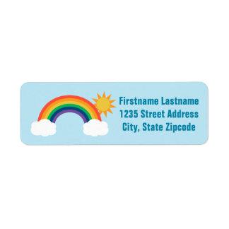 Regenbogen-Entwurf des Rücksendeadressen-Aufkleber