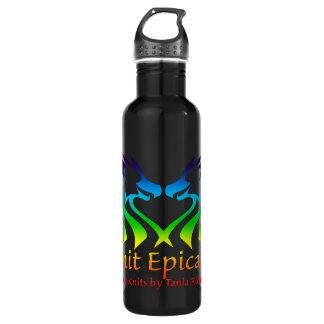 Regenbogen-episches Strick-Logo Waterbottle Trinkflasche