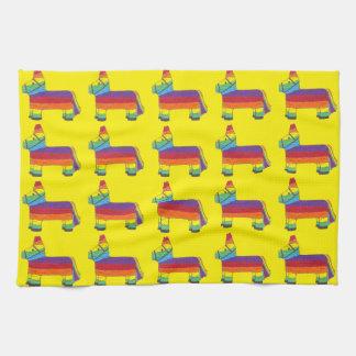 Regenbogen-Esel Piñata Handtuch