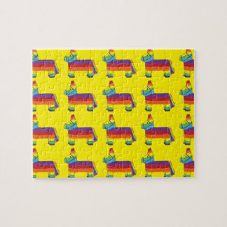 Regenbogen-Esel Piñata Puzzle