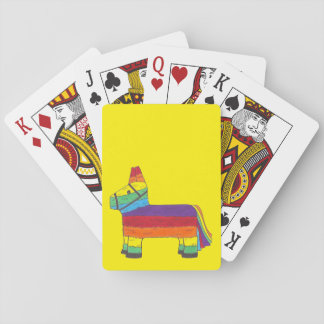 Regenbogen-Esel Piñata Spielkarten