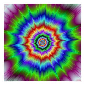 Regenbogen-Explosion das Zazzle perfekte Plakat Poster