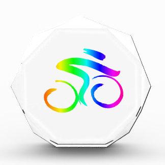 Regenbogen-Fahrrad 2 Acryl Auszeichnung