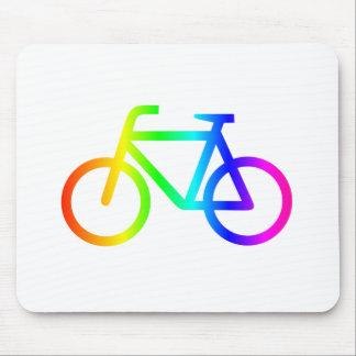 Regenbogen-Fahrrad 3 Mousepad