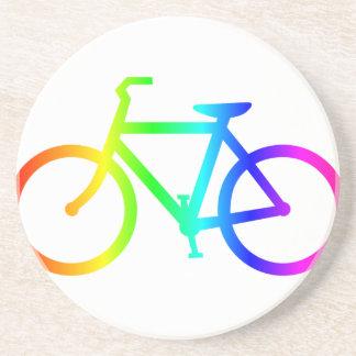 Regenbogen-Fahrrad 4 Sandstein Untersetzer