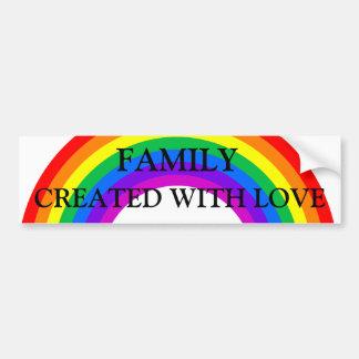 Regenbogen-Familie gemacht mit Liebe-Autoaufkleber Autoaufkleber