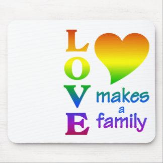 Regenbogen-Familie mousepad, fertigen besonders an Mauspads