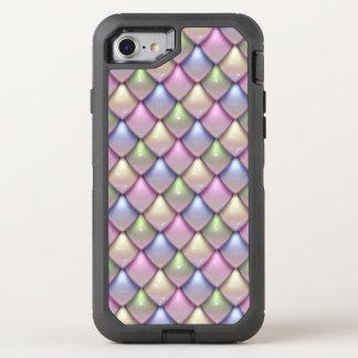 Regenbogen-Fantasie-Skala-Muster OtterBox Defender iPhone 8/7 Hülle
