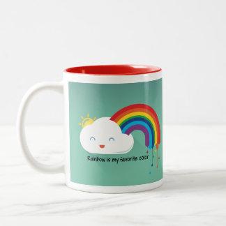 Regenbogen-Farbe Zweifarbige Tasse