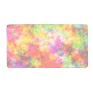 Regenbogen-Farben. Hübsche, bunte Wolken