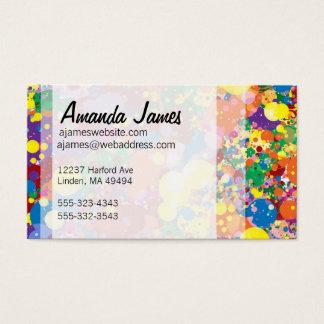 Regenbogen-Farben-Spritzer Visitenkarte
