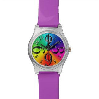 Regenbogen-Farben Uhr