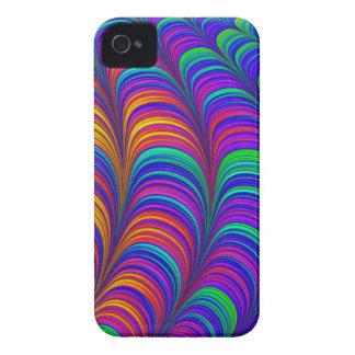 Regenbogen farbige abstrakte Kunst 3D iPhone 4 Cover