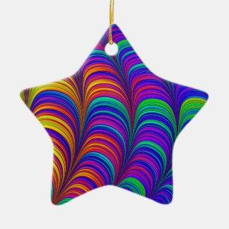 Regenbogen farbige abstrakte Kunst 3D Keramik Ornament