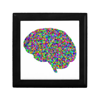 Regenbogen farbige Gehirn-prismatische Kunst Geschenkbox
