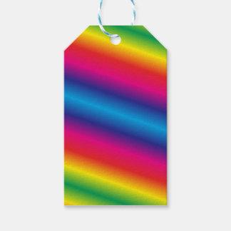 Regenbogen farbige Geschenk-Umbauten Geschenkanhänger