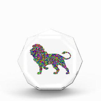 Regenbogen farbige Löwe-prismatische Kunst Auszeichnung