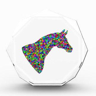 Regenbogen farbige Pferdekopf-prismatische Kunst Auszeichnung