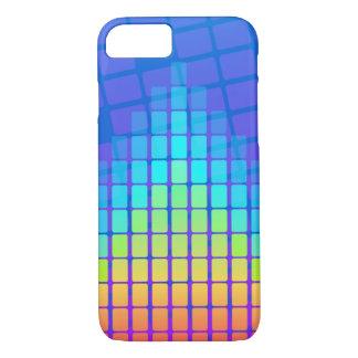 Regenbogen farbige Pyramide von Rechtecken iPhone 8/7 Hülle