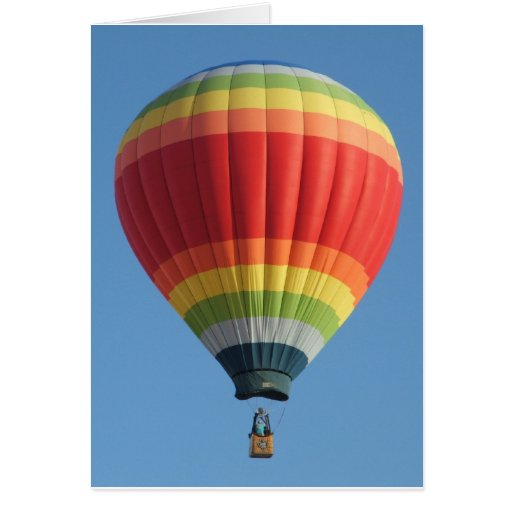 Regenbogen farbiger Heißluftballon Karte