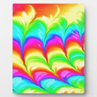 Regenbogen farbiges abstraktes Muster 3D Fotoplatte