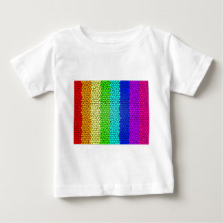 Regenbogen farbiges Buntglas (horizontal) Baby T-shirt