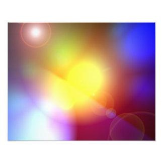 Regenbogen farbiges Linse-Aufflackern Foto Druck