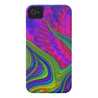 Regenbogen färbt abstrakte Kunst 3D Case-Mate iPhone 4 Hülle