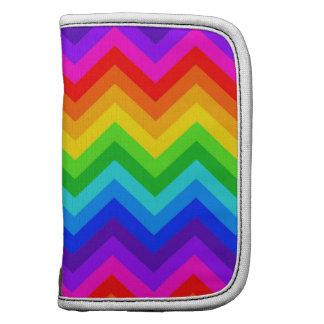 Regenbogen färbt großes Zickzack Muster des Mappen