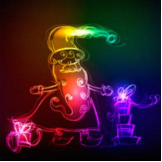 Regenbogen färbt Weihnachtsweihnachtskleines Freistehende Fotoskulptur