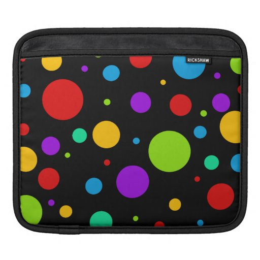 Regenbogen-FarbTupfen iPad Sleeve