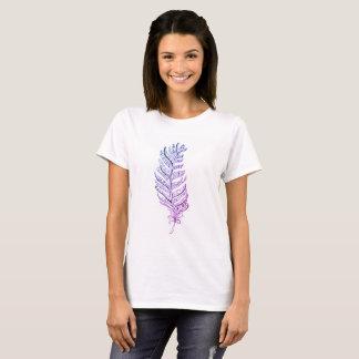 Regenbogen-Feder-T - Shirt