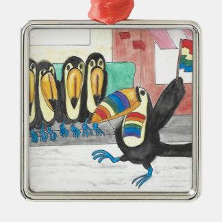 Regenbogen-Feier Silbernes Ornament