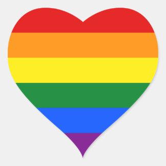 Regenbogen-Flagge Herz-Aufkleber
