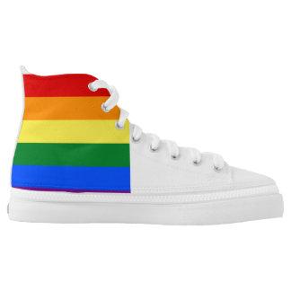 Regenbogen-Flagge Hoch-geschnittene Sneaker