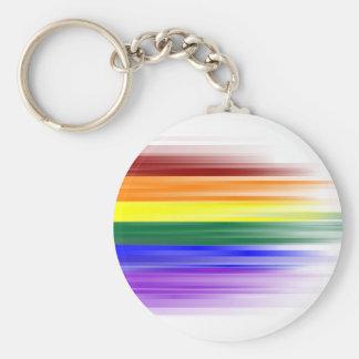 Regenbogen-Flagge Keychain (klassisch) Standard Runder Schlüsselanhänger