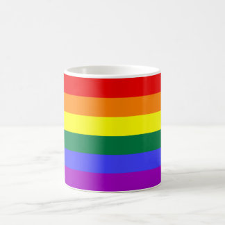 Regenbogen-Flagge Mog Kaffeetasse