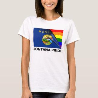 Regenbogen-Flagge Montana-Stolz-LGBT T-Shirt