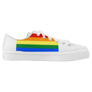Regenbogen-Flagge Niedrig-geschnittene Sneaker