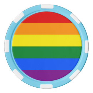 Regenbogen-Flagge Poker Chip Set