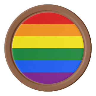 Regenbogen-Flagge Poker Chips