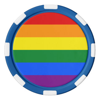 Regenbogen-Flagge Poker Chips Set