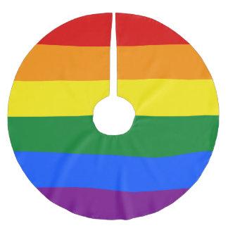 Regenbogen-Flagge Polyester Weihnachtsbaumdecke