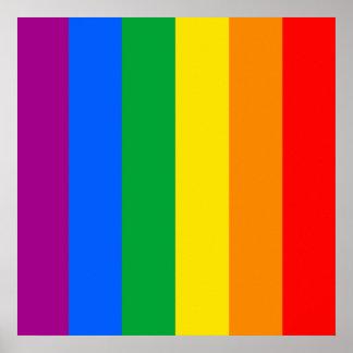 Regenbogen-Flagge Plakatdruck