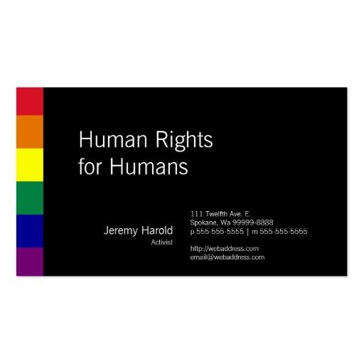 Regenbogen-Flagge Visitenkarten Vorlagen
