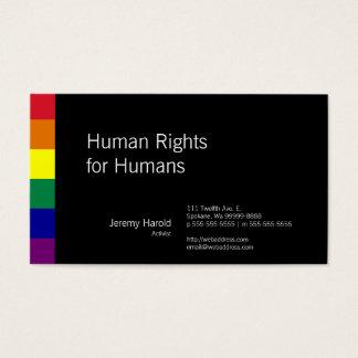 Regenbogen-Flagge Visitenkarte
