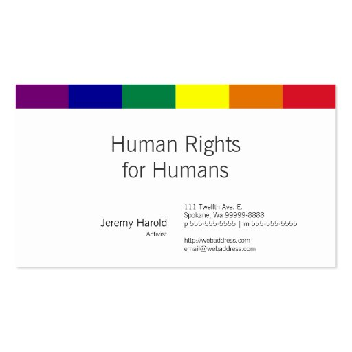 Regenbogen-Flagge Visitenkartenvorlagen