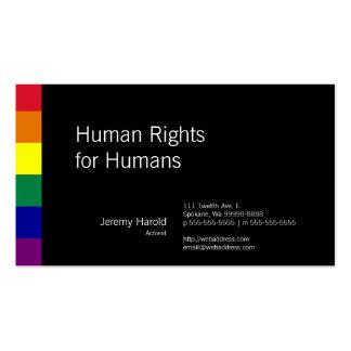 Regenbogen-Flagge Visitenkarten